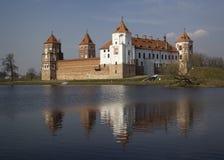 Slott i staden Mir, Vitryssland Royaltyfri Bild