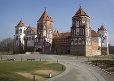 Slott i staden Mir, Vitryssland Fotografering för Bildbyråer