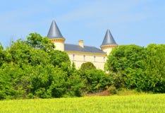 Slott i sydliga Frankrike Arkivbild