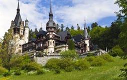 Slott i träna Arkivfoto