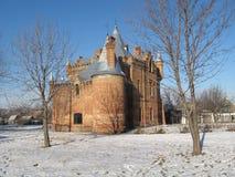 Slott i vinter Royaltyfria Bilder