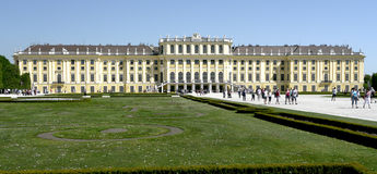Slott i Wien fotografering för bildbyråer