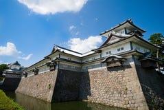 slott japan kanazawa Arkivbild