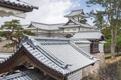slott japan kanazawa Royaltyfria Bilder