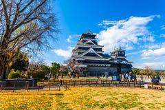 slott japan kumamoto Royaltyfria Bilder