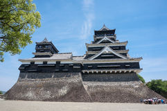 slott japan kumamoto Royaltyfria Foton