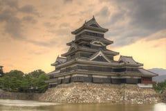 slott japan matsumoto Arkivfoto