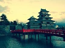slott japan matsumoto Royaltyfri Bild