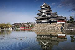 slott japan matsumoto Arkivbilder
