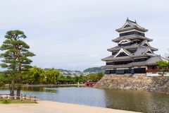 slott japan matsumoto Arkivfoton