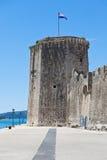 Slott Kamerlengo, Trogir, Kroatien Arkivfoto