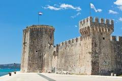 Slott Kamerlengo, Trogir, Kroatien Arkivbilder