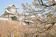 slott kanazawa Arkivfoto