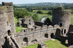 slott kidwelly welsh Royaltyfria Foton