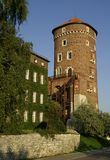 slott krakow Arkivfoton