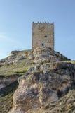 Slott Langa de Duero Spanien Fotografering för Bildbyråer