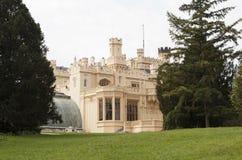 Slott Lednice för republiktown för cesky tjeckisk krumlov medeltida gammal sikt Royaltyfri Foto