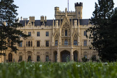 Slott Lednice i Moravia arkivfoton
