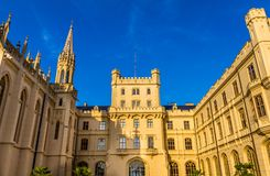Slott Lednice, Tjeckien royaltyfri fotografi