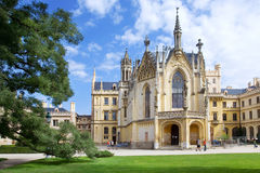 Slott Lednice (UNESCO), Tjeckien Fotografering för Bildbyråer
