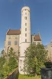 Slott Lichtenstein - hjälpbyggnad med tornet Royaltyfri Fotografi