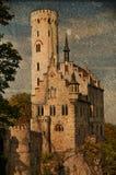 Slott Lichtenstein i Tyskland Arkivfoton