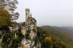 Slott Lichtenstein nära Honau Royaltyfria Bilder