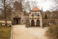 Slott Lichtenstein, Tyskland Fotografering för Bildbyråer