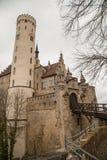 Slott Lichtenstein, Tyskland Arkivfoto