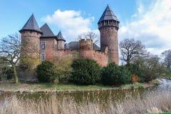 Slott Linn - Krefeld - Tyskland Arkivfoton