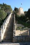slott lisbon Arkivbild