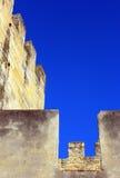 Slott Lisbon, Portugal Arkivfoton