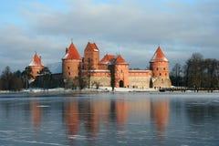 slott lithuania Royaltyfri Bild