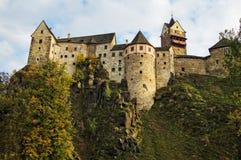 Slott Loket i Tjeckien Arkivbilder
