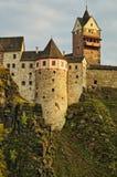 Slott Loket i Tjeckien Fotografering för Bildbyråer