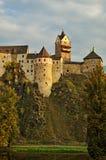 Slott Loket i Tjeckien Royaltyfria Bilder