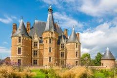 Slott Martainville med tornet royaltyfri foto