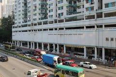 Slott maximal Rd Tsuen som är glåmig på Hong Kong royaltyfri foto