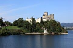 slott medeltida poland Arkivbilder