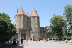 slott medeltida spain Royaltyfri Bild