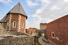 Slott Medvednica i staden Zagreb Arkivbild