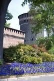slott milan Arkivfoton