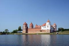 Slott Mir, Vitryssland Royaltyfria Foton