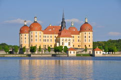 Slott Moritzburg Sachsen Arkivfoto
