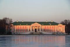 Slott moscow för Kuskovo godsmuseum Arkivbild