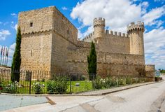 Slott nära Leon, Spanien, arkivbild