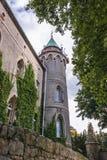 Slott nära Szczytna Royaltyfri Bild
