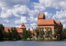slott nära trakaien vilnius Royaltyfria Bilder