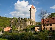 Slott Nejdek, Tjeckien arkivbilder
