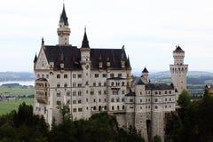 Slott Neuschwanstein på den Allgau Bayern Tyskland Arkivbilder
